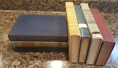Lot of 7 ANTIQUE Old Vintage Books Collection Set MIXED all hardcover