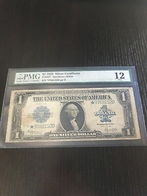 1923 silver certificate star Note Graded Pmg 12 Fine