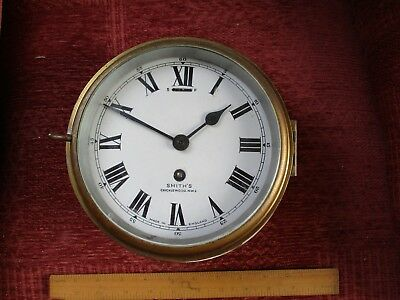 antique smith's cricklewood 7 inches brass ships clock
