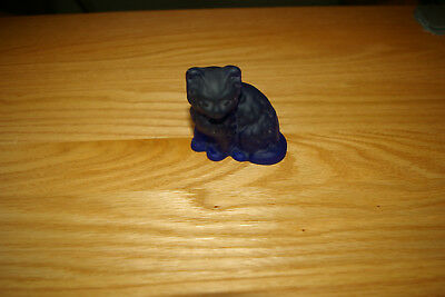 Mosser Cobalt Blue Satin Fluffy Cat