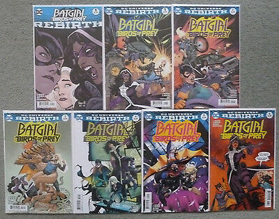"Batgirl & The Birds Of Prey ""rebirth"" #1 & #1-6 Set..dc 2016 1St Print..nm"