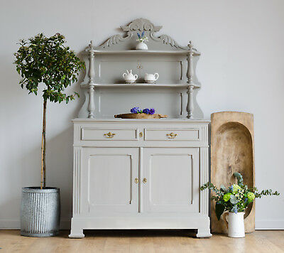 French Antique 19th Century Dresser Cupboard Sideboard Painted in Farrow & Ball