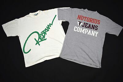 2x Notorius Brooklyn Redrum Rap T-Shirt Hip Hop New York Vintage Raptee L