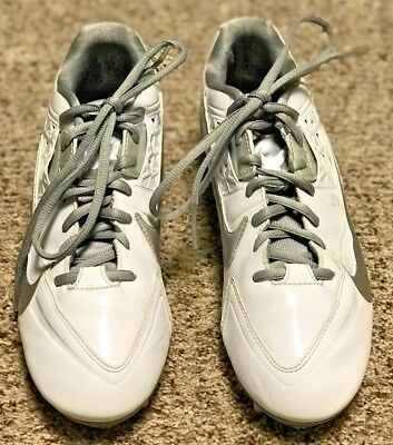 Ladies Sz 9.5 White Nike Lacrosse Lax Cleats Sz 9 1/2