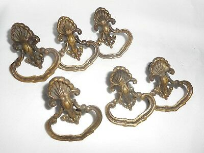 Retro Vintage Finger Drawer Furniture Pulls Brass? Metal Handles Hardware