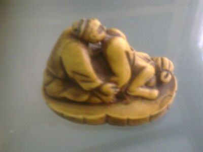 Erotic Netsuke Detailed Okimono Carving,, 3 Of 5,, Please Do L@@k