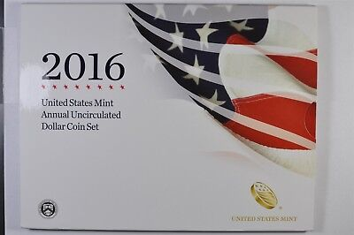 2016 Annual Uncirculated Dollar Set With American Silver Eagle W/edge lettering