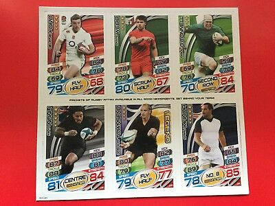 Topps Rugby Attax 2015 - 2 Different Uncut Sheets