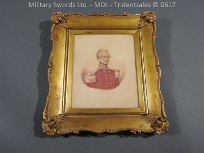 English Water Colour of a British Officer in Dress Uniform