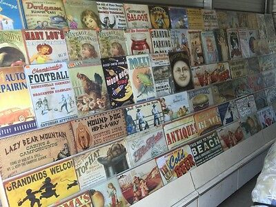Huge lot of Metal signs and home decor $21,690 retail value! Store liquidation!