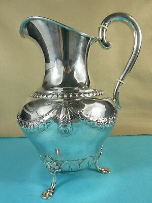 Beautiful Danish Sterling Silver Jug Pitcher Garlands Flowers Leaves J Holm 1928