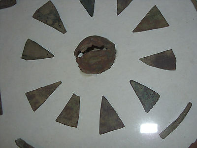 Brass Fur Trade Points and Fragments - NY - Fur Trade 1600s-1700s