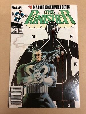 The Punisher #3 (Mar 1986, Marvel) Limited Series Hot Key Comic