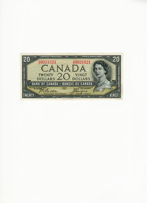 1954 $ 20 Dollars Devil's Face Bank of Canada