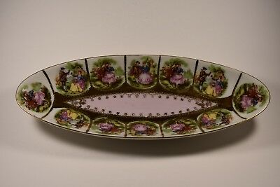 gilded candy olive nut butter soap dish marked victorian