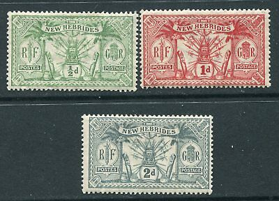 New Hebrides  1911 3 values to 2d SG18-20 MM (AV164)