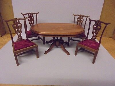 dolls house 12th scale Table and 4 chairs new