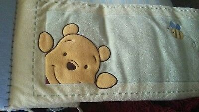Disney Winnie the Pooh SOFT AND FUZZY Plush Velour Crib Bumper Kidsline PIGLET