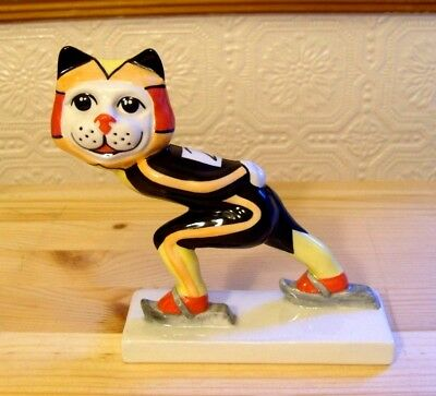 Lorna Bailey Speed Skater Cat  From The Winter Olympic Collection  Rare