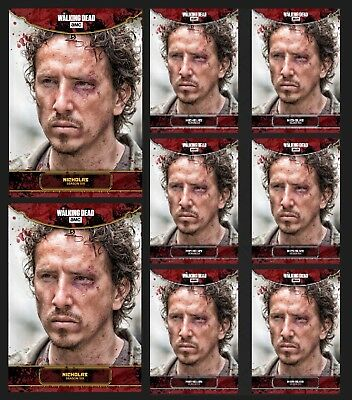 NICHOLAS-AMONG THE SHEEP-2x GOLD+6x WHITE-TOPPS WALKING DEAD CARD TRADER
