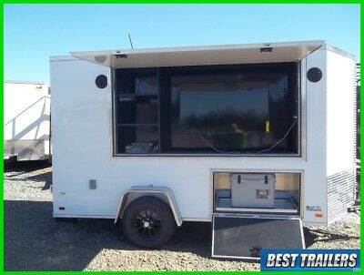2018 loaded 6 x 12 tailgate trailer w TV and radio cooler game trailer party