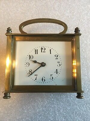 Vintage/antique Small French Carriage Clock Key Wind Runs Well