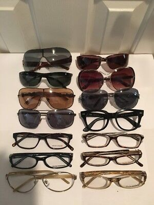 Lot Of 14 Pair of Damaged Or Defective Designer Sun/EyeGlasses! Womans And Mens!