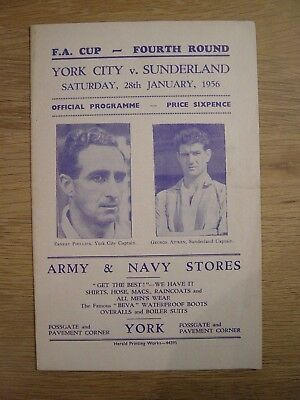 1955/56 Fa Cup : York City V Sunderland