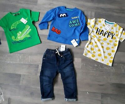 boys Next Mothercare bundle 18-24 jeans awesome cool jumper happy top crocodile