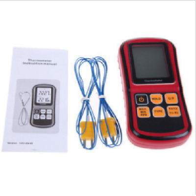 Digital Thermometer Dual-channel LCD Display Temperature Meter Tester