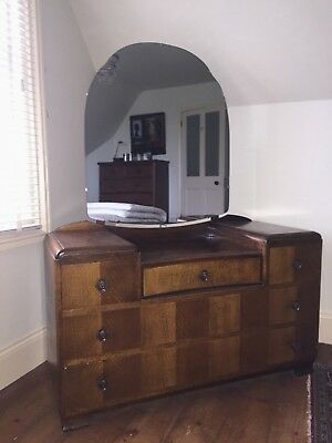Dressing Table circa 1950's chest deco vintage mirror Northants M1/A1/A45/A14