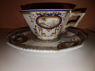 Nymphenburg cup and saucer Dominic Auliczek Perl service