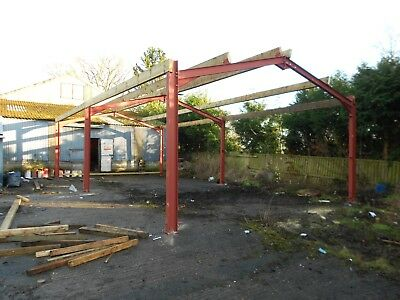 Steel frame building 40x20x12