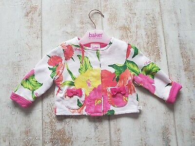 Ted baker beautiful baby girls floral cardigan jacket! 0-3 months