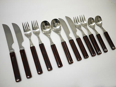 Denby Touchstone Stainless/Ceramic Cutlery 2 Place Sets - Knives, Forks & Spoons