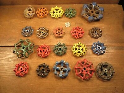 20 Vintage Valve Handles Water Faucet Knobs STEAMPUNK Industrial Arts & Crafts