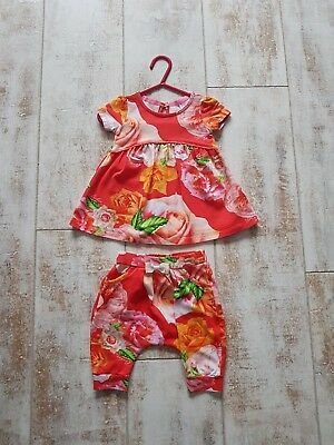Ted baker beautiful baby girls dress and harem pants outfit set ! 3-6 months
