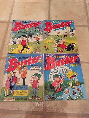 4 X The Best Of Buster Comics Monthly . 3 X 1988 & 1 X 1989