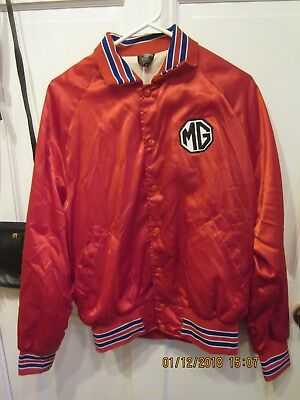 VINTAGE MG MGB 1970'S JACKET GREAT CONDITION Sz lg Triumph Spitfire Austin Healy