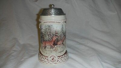 Whitetails Unlimited Pewter Lidded Ltd. Edition Beer Stein, By Bruce Miller Box