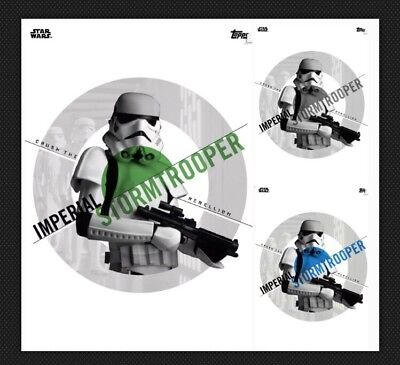 Stormtrooper-Green/blue/gray-Action Accents-Topps Star Wars Card Trader