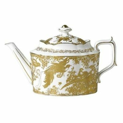 New Royal Crown Derby 2nd Quality Gold Aves Large Teapot