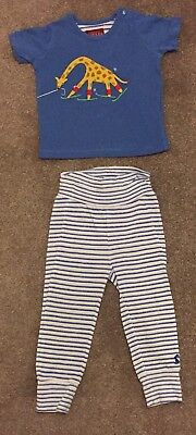 Joules Top and Bottom Set boys 6-9 months