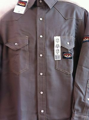 Rasco FR  Gray  Work Shirt  Heavyweight   NWT