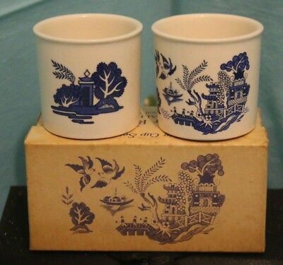 2 Vintage Royal Worcester Palissy for Rington's Boxed Egg Cups