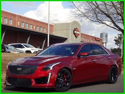 2017 Cadillac CTS CADILLAC CTS-V RED CARBON FIBER LEATHER SUEDE SUNROOF BREMBO 2017 CADILLAC CTS-V SEDAN RED OBSESSION TINTCOAT ONE OWNER CLEAN CARFAX