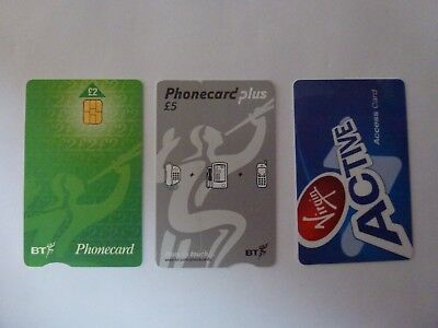 UK Collectible Phonecards, BT& Virgin, Used