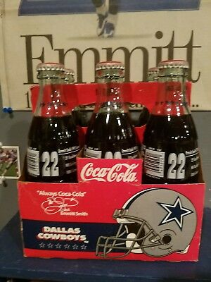 Dallas Cowboys Emmitt Smith Coke Bottles (6 Pack With Carrier)