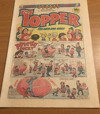 Vintage The Topper Comic Easter Special No 1629 April 21st 1984 *Fab Condition*