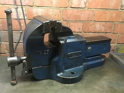 "Record No 25 QUICK RELEASE HEAVY DUTY BENCH VICE 6"" ENGINEERS / FITTERS 25"